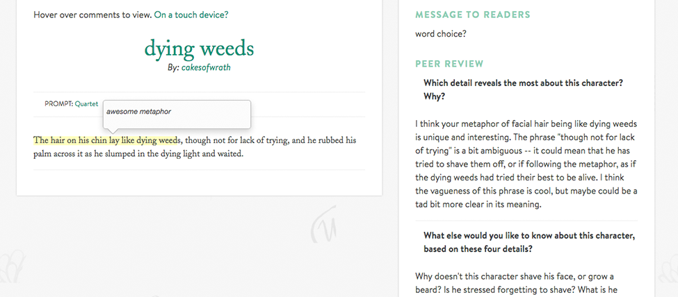 Peer review screenshot2